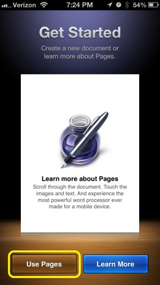 Use Pages