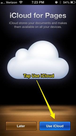 Use iCloud
