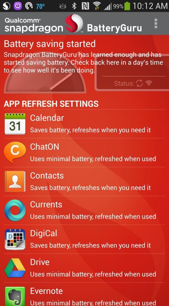 battery guru finished message