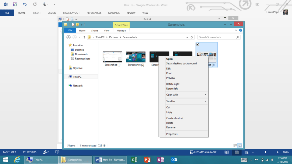 how to navigate windows 8 5