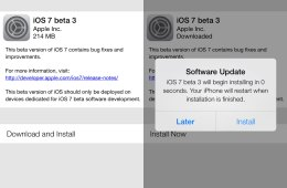 The iOS 7 beta 3 release is now available with new features.