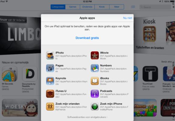 A screenshot of the welcome screen in iOS 7 Beta 3, captured by iPhone-Ticker.de