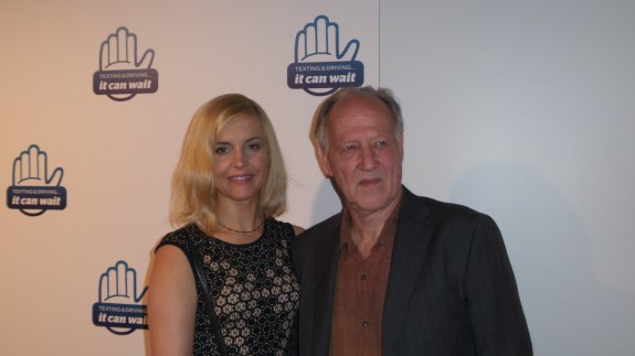 Filmmaker Warner Herzog at the Los Angeles It Can Wait campaign.