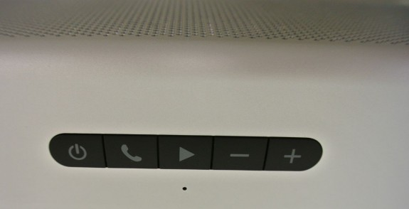 controls on top of the Braven 850