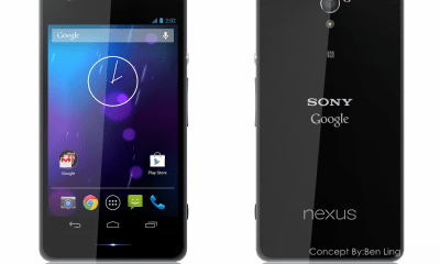 A Sony Nexus 5 concept from Ben Ling.