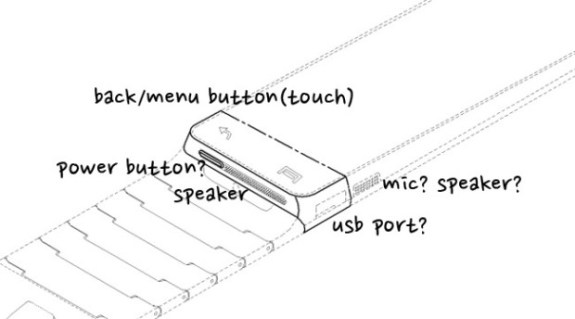 Patent filing shows a sketch that could be part of the Samsung Galaxy Gear smartwatch.