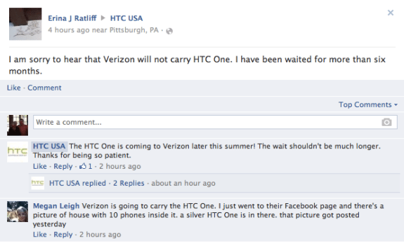 HTC seems to expect news in the short term.