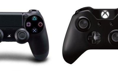 PS4 controller vs. Xbox One controller.