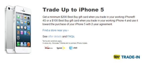 best buy free iphone 5 with trade in