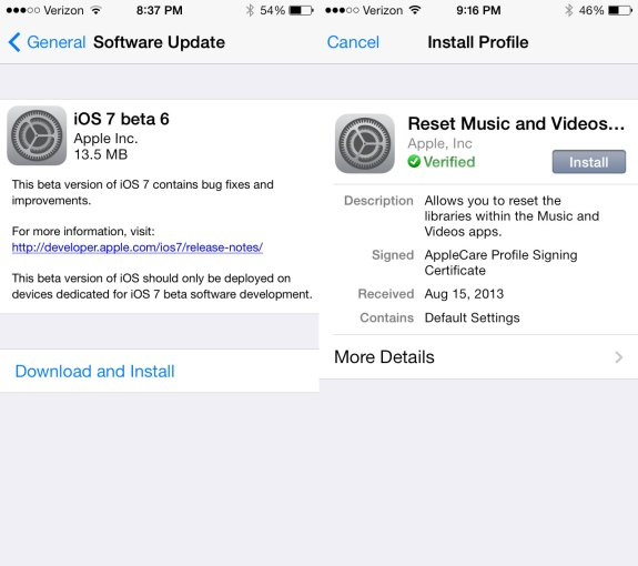 The iOS 7 beta 6 release arrives late Thursday night with small fixes.