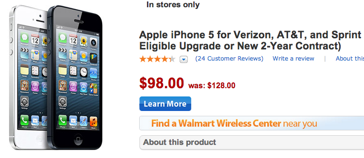 iphone 5s t mobile walmart iphone 5 drops to 98 at walmart ahead of iphone 5s release 17508