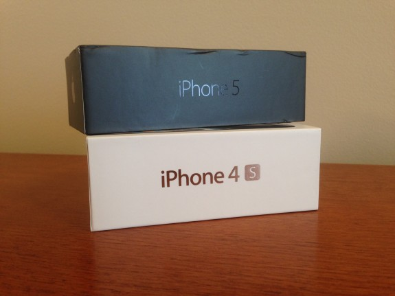 Previous iPhone boxes.