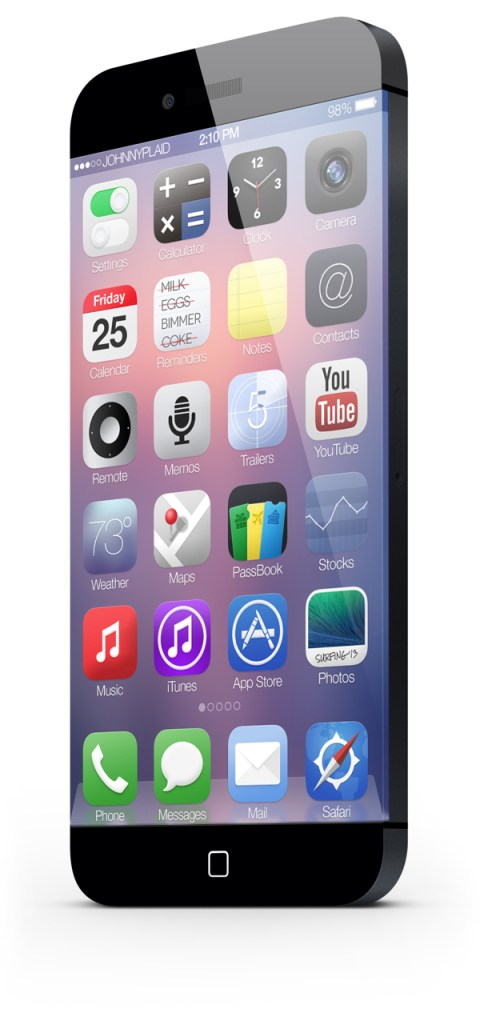 The iPhone 6 concept puts a major emphasis on the display.
