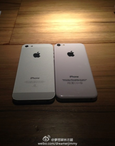 Lin's iPhone 5C next to the iPhone 5.