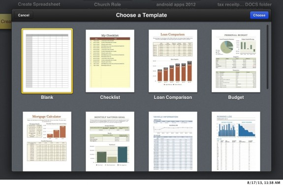 iwork beta numbers template chooser