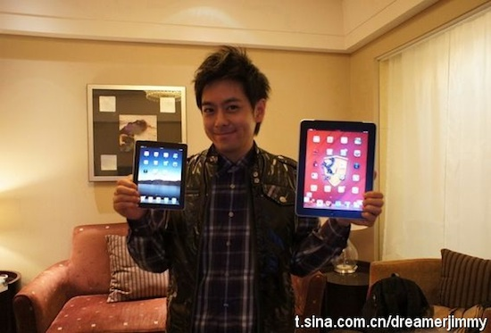 Jimmy Lin with his pre-launch iPad mini.