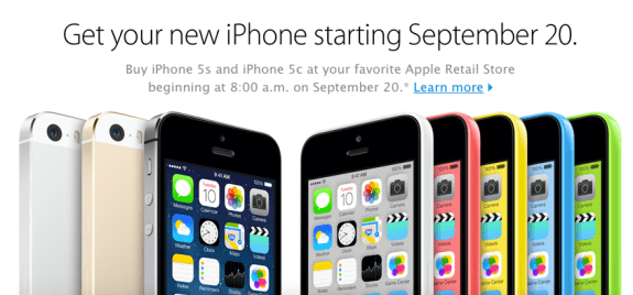 Apple Store locations will open at 8 AM on the iPhone 5s release date.