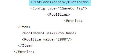 GTA 5 for PS4 code, from an alleged Xbox 360 code dump. Orbis was the code name for PS4 dev units.