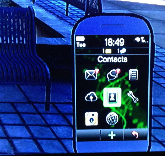 A closer look at GTA 5's Android smartphone.
