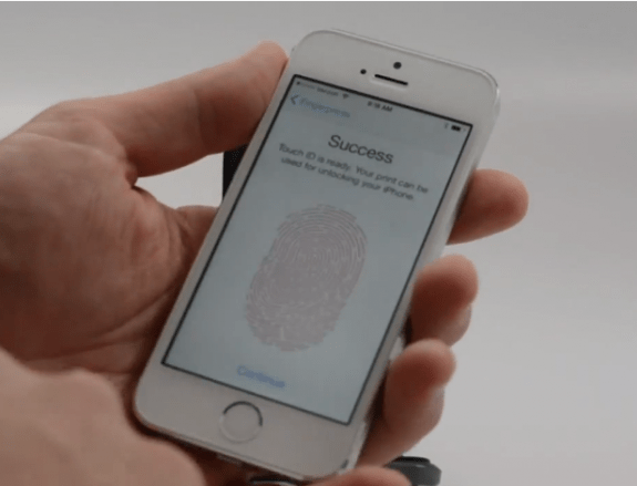 Touch ID on the iPhone 5s