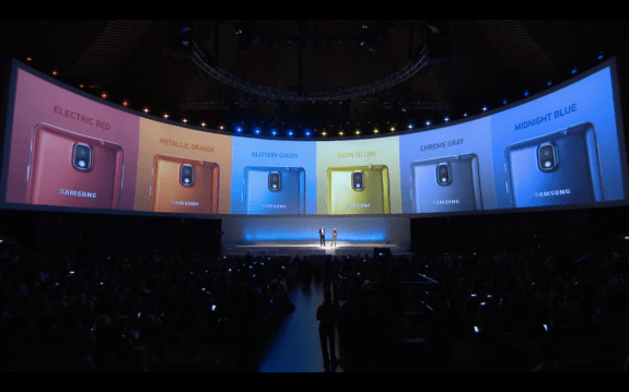 samsung galaxy note 3 special colors