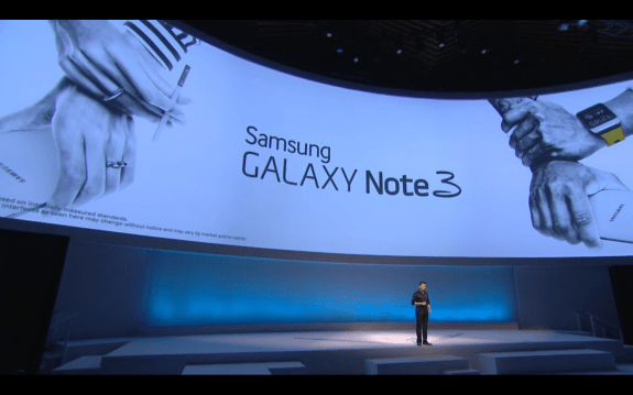 The Samsung Galaxy Note 3 will arrive later this month.