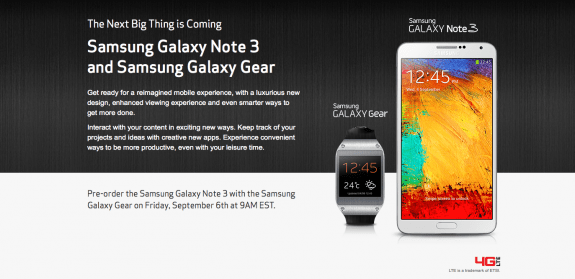 Verizon Galaxy Note 3 pre-orders start tomorrow ahead of an unknown release date.