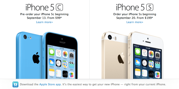 There won't be any iPhone 5S pre-orders, according to Apple.