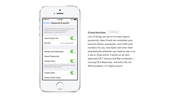 iCloud Keychain has apparently been pulled from iOS 7.