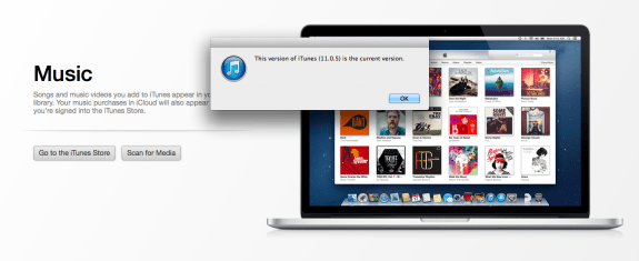 Users checking for the iTunes 11.1 update won't find one and the manual download isn't working for some.