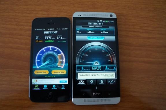 Sprint 4G LTE speed test.
