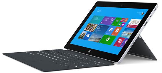 Windows 8.1 running on the Surface 2.