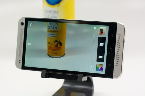 The Verizon HTC One includes an UltraPixel camera.