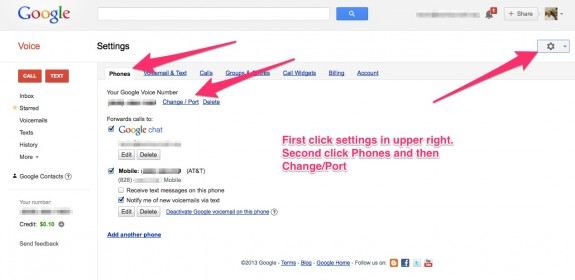 google voice port process