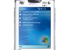 Old Windows Mobile Pocket PC Phone.