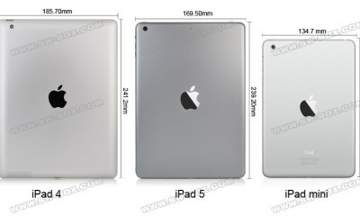 This photo shows how much smaller the iPad 5 could be compared to the iPad 4.