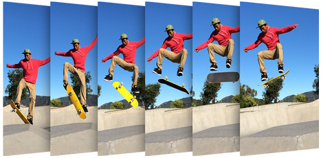 Take 10 photos per second with iPhone 5S burst mode and the iPhone identifies the best photo or photos.