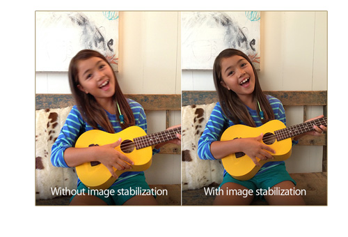 The iPhone 5S camera will help users take blur free photos.