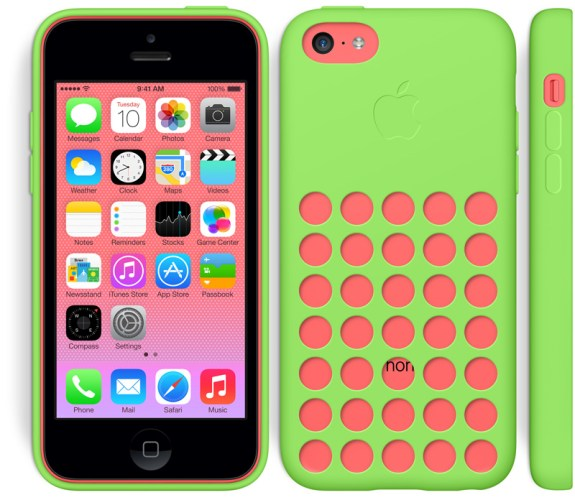 Apple offers six iPhone 5c case color options.