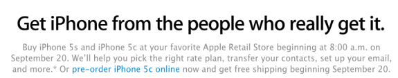 U.S. Apple Stores are not taking iPhone 5s pre-orders.