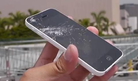 iphone 5c drop test screen