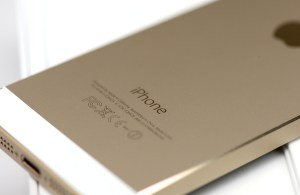 AT&T isn't shipping the gold iPhone 5S until October.