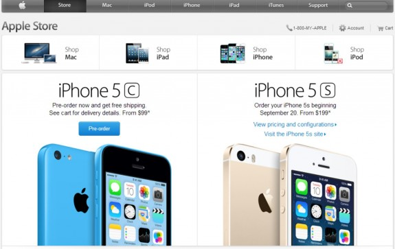 The iPhone 5S will be available online and in stores on Sept. 20.