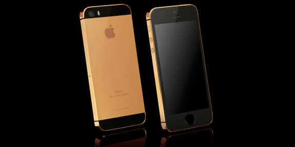 Real 24 CT rose gold iPhone 5s