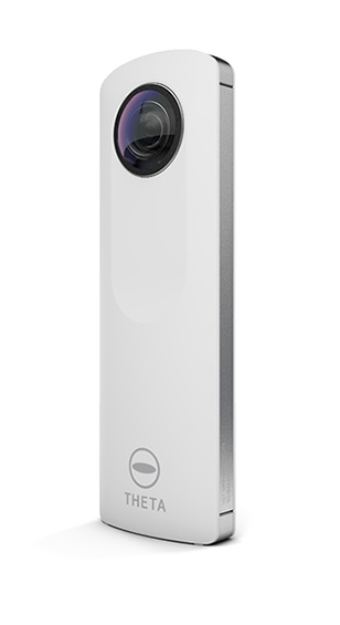ricoh theta camera takes 360 degree images