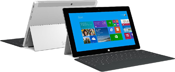The Surface 2 with  a Type Cover 2
