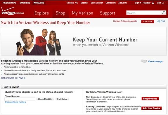 verizon switch page eligibility check