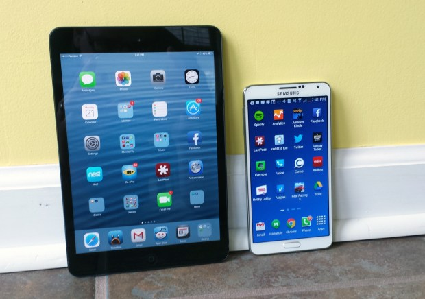 Galaxy Note 3 vs iPad mini 2- 1
