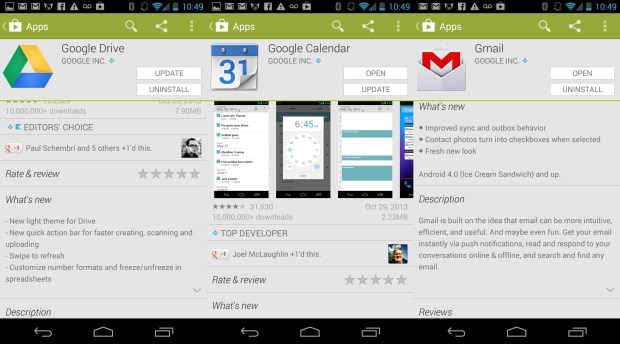 Google is updating apps, possibly in preparation for Android 4.4.