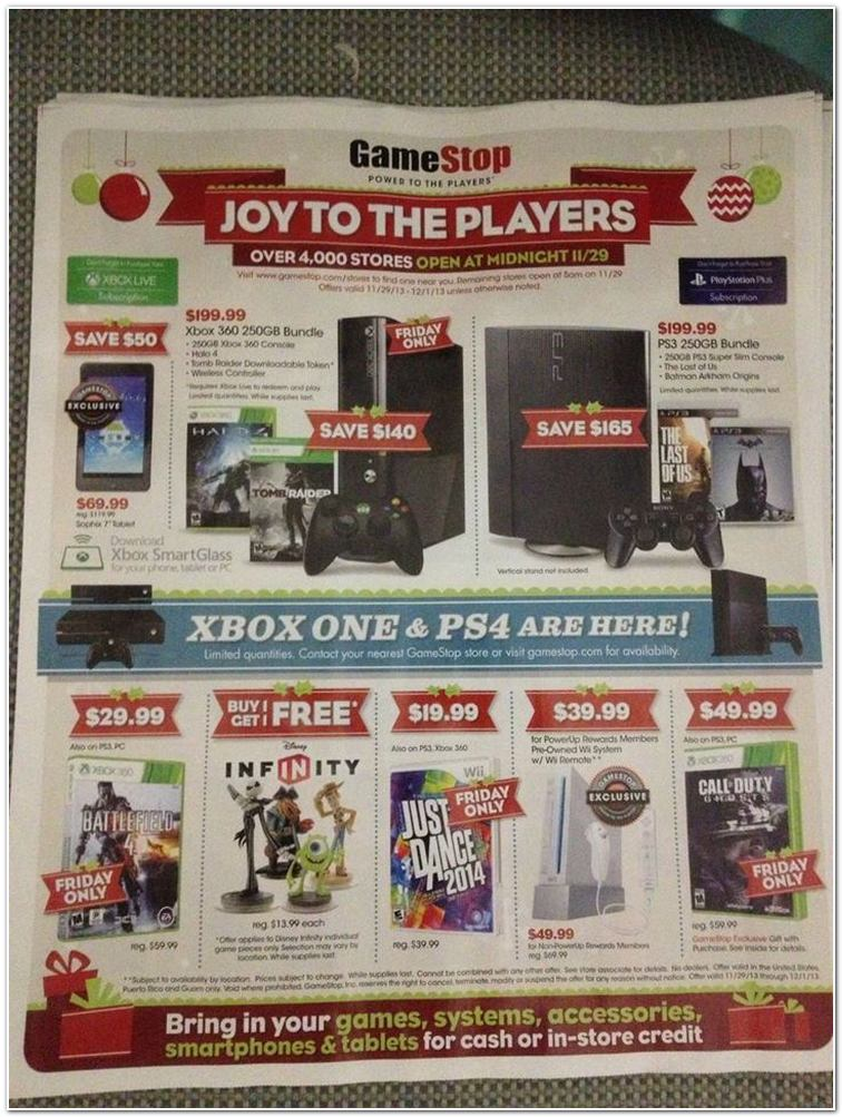 $29 Battlefield 4 and $49.99 Wiis at GameStop on Black Friday